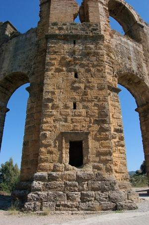 Primary view of object titled 'Aspendos Aqueduct with Pressure Tower'.