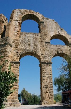 Aspendos Aqueduct with Pressure Tower