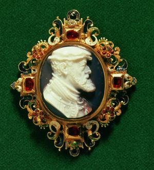 Primary view of Cameo Bearing the Portrait of Charles I of Spain