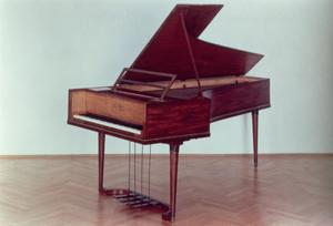 Primary view of object titled 'Harpsichord Belonged to Ludwig van Beethoven (1770-1827)'.