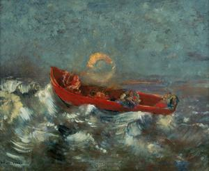 Primary view of object titled 'The Red Boat'.