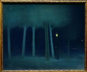 Primary view of object titled 'Park at Night'.