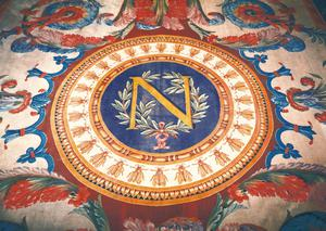 Rug with the 'N' of Napoleon I