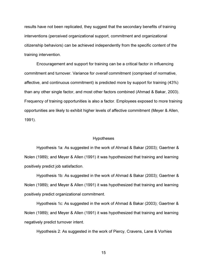 job satisfaction and organizational commitment thesis