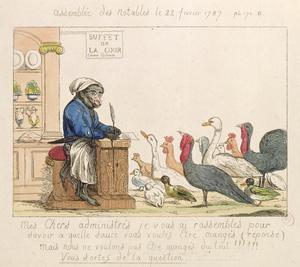 Primary view of object titled 'Caricature of Assembly of Notables, February 22, 1787'.