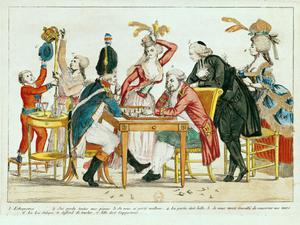 Primary view of object titled 'Caricature of Louis XVI (1754-1793) Playing Chess with a Soldier of National Guard'.