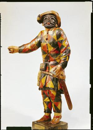 Primary view of object titled 'Figure of Harlequin from the Seraphin Theatre'.