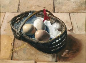 Primary view of object titled 'Basket of Eggs'.