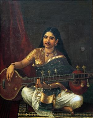 Primary view of object titled 'Young Woman with a Veena'.