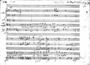 Primary view of object titled 'Cosi Dunque Tradisci, Recitative, Aria'.