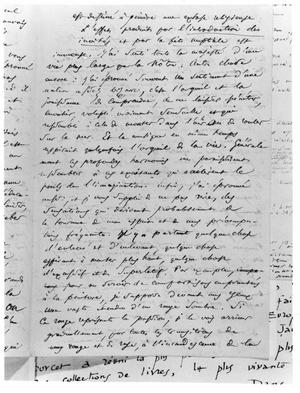 Primary view of object titled 'Letter from Charles Baudelaire to Richard Wagner'.