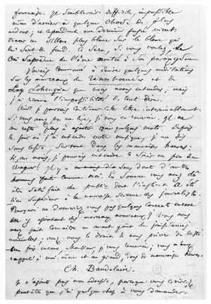 Letter from Charles Baudelaire to Richard Wagner
