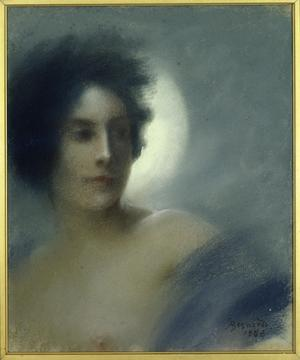 Primary view of Woman with a Crescent Moon or, Eclipse