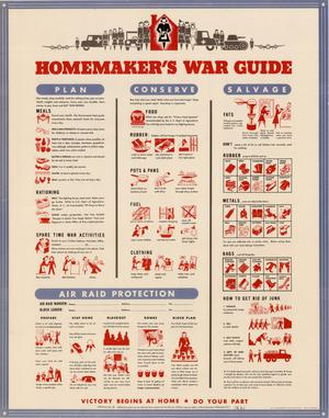 Primary view of object titled 'Homemaker's war guide.'.