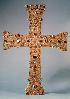 Primary view of object titled 'Reliquary Cross of the Abbey of Valesse'.