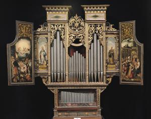 Primary view of object titled 'Choir Organ with Open Panels'.