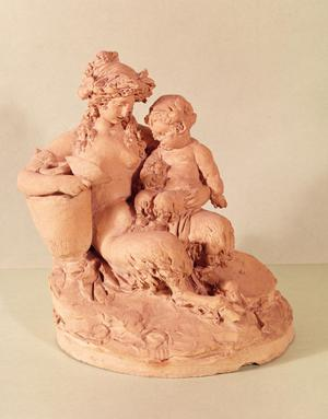 Primary view of object titled 'Female Faun with Her Child'.