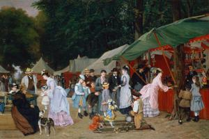 Primary view of object titled 'At the Fair'.
