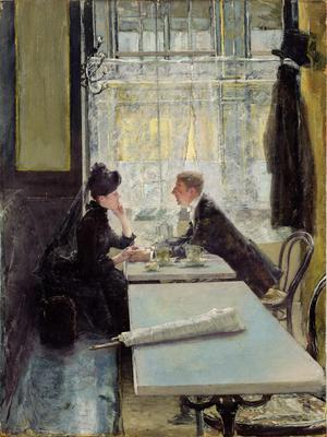 Primary view of object titled 'Lovers in a Cafe'.