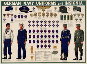 Primary view of object titled 'German navy uniforms and insignia.'.
