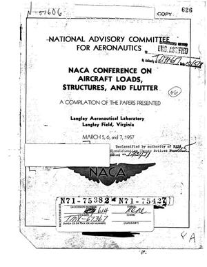 Primary view of object titled 'NACA Conference on Aircraft Loads, Structures, and Flutter'.