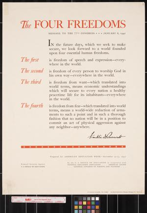 Primary view of object titled 'The four freedoms : message to the 77th Congress -- January 6, 1941.'.