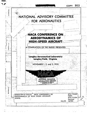 Primary view of object titled 'NACA Conference on Aerodynamics of High Speed Aircraft'.