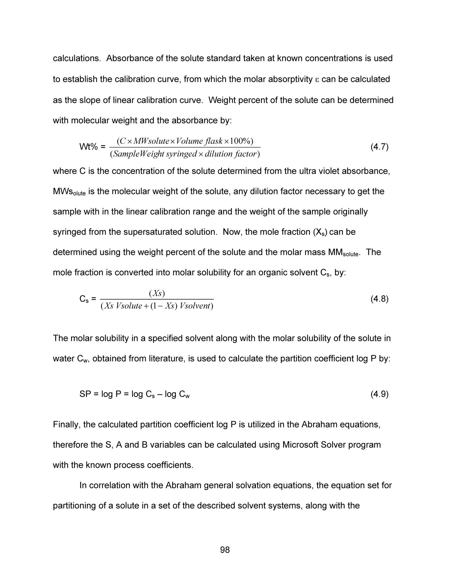 Thermodynamics of the Abraham General Solvation Model