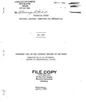 Primary view of object titled 'Condensed data on the aircraft engines of the world'.