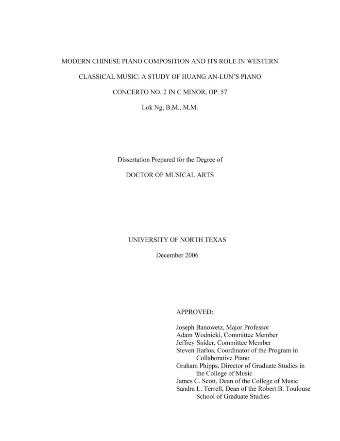 Bob mcdonell masters thesis