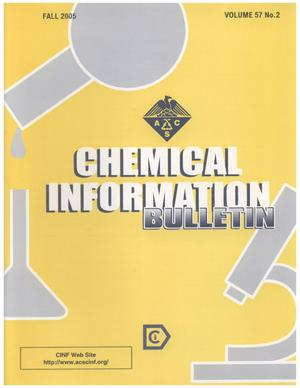Primary view of object titled 'Chemical Information Bulletin, Volume 57 Number 2, Fall 2005'.