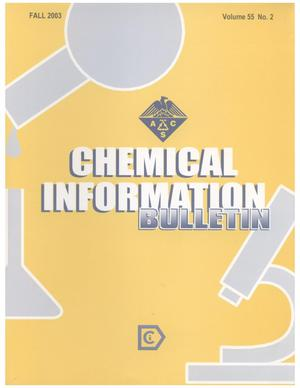 Primary view of object titled 'Chemical Information Bulletin, Volume 55 Number 2, Fall 2003'.