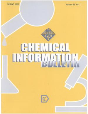 Primary view of object titled 'Chemical Information Bulletin, Volume 55 Number 1, Spring 2003'.