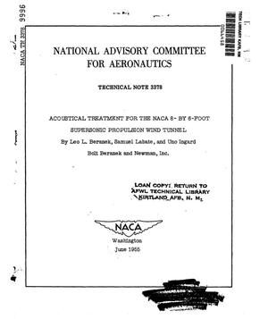 Primary view of object titled 'Acoustical treatment for the NACA 8- by 6-foot supersonic propulsion wind tunnel'.