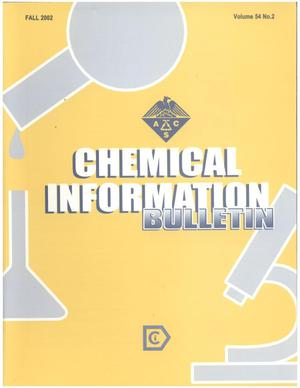 Primary view of object titled 'Chemical Information Bulletin, Volume 54 Number 2, Fall 2002'.