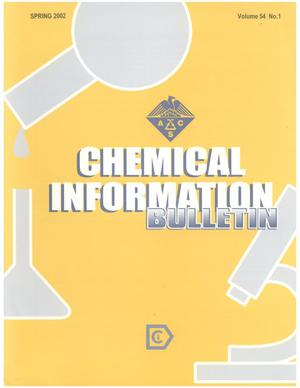 Primary view of object titled 'Chemical Information Bulletin, Volume 54 Number 1, Spring 2002'.