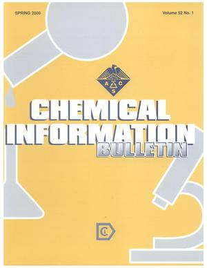 Primary view of object titled 'Chemical Information Bulletin, Volume 52, Number 1, Spring 2000'.
