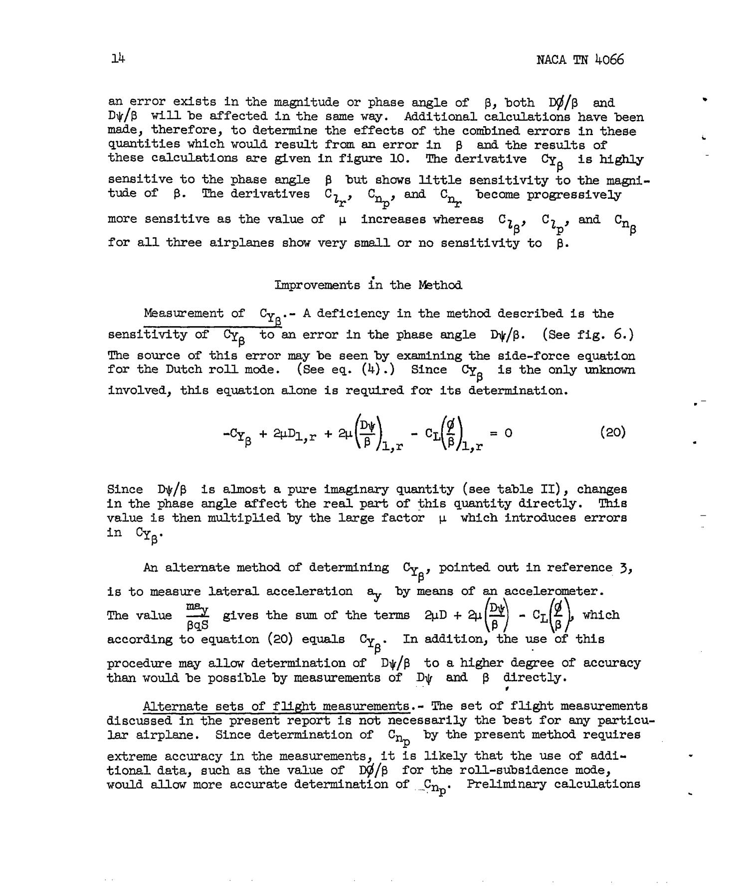 A Method Utilizing Data on the Spiral, Roll-Subsidence, and