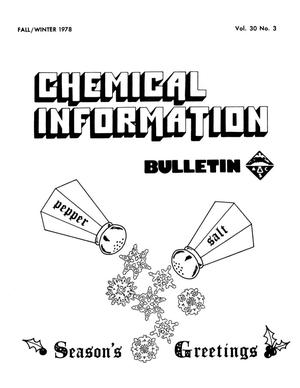 Chemical Information Bulletin, Volume 30, Number 03, Fall/Winter 1978