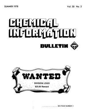 Primary view of object titled 'Chemical Information Bulletin, Volume 30, Number 2, Summer 1978'.