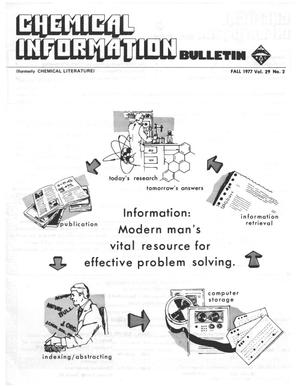 Primary view of object titled 'Chemical Information Bulletin, Volume 29, Number 2, Fall 1977'.