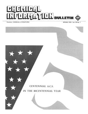 Primary view of object titled 'Chemical Information Bulletin, Volume 28, Number 1, Spring 1976'.
