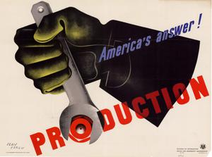 Primary view of object titled 'America's answer! : production.'.