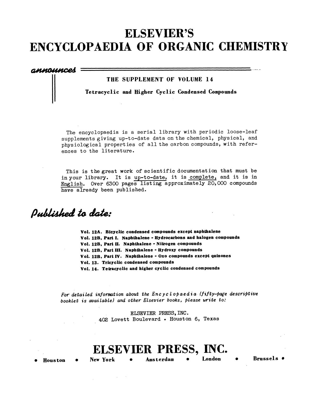 Chemical Literature, Volume 3, Number 3, Fall 1951                                                                                                      4