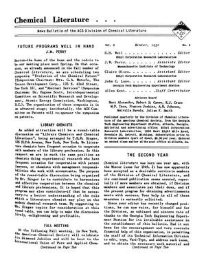 Chemical Literature, Volume 2, Number 4, Winter 1950