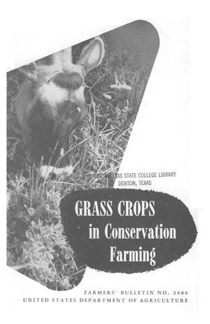 Grass crops in conservation farming.