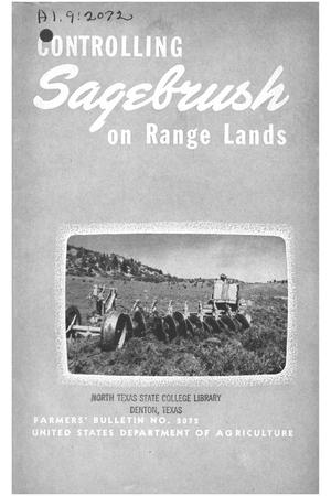 Primary view of object titled 'Controlling sagebrush on range lands.'.