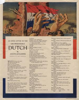 An open letter to the unconquerable Dutch.
