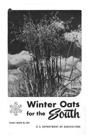 Primary view of object titled 'Winter oats for the South.'.