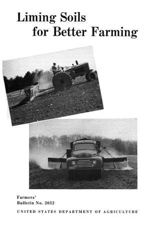 Primary view of object titled 'Liming soils for better farming.'.